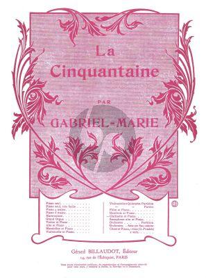 Gabriel-Marie La Cinquantaine Clarinet - Piano