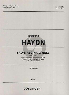 Haydn Salve Regina g-moll Hob. XXIIIb:2 (Solo Quartet or Mixed Choir-Strings-Organ Vocal Score (lat.) (edited by Robbins Landon)