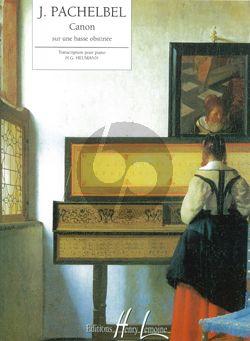 Pachelbel Canon sur une basse obstinée Piano seule (facile) (transcr. Hans-Gunter Heumann)