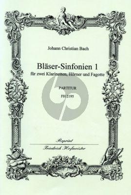 Bach 6 Sinfonien 1 (No.1 - 3) 2 Clar.- 2 Horns[Bb]- 2 Bns. (Score) (edited by Fritz Stein)