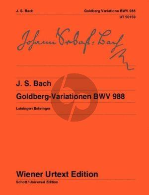 Bach Goldberg Variationen BWV 988 Klavier (Herausgegeven von Christoph Wolff und Fingersatz Huguette Dreyfuss) (Wiener Urtext)