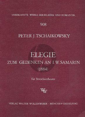 Tchaikovsky Elegie (zum gedenken an I.W. Samarin) 1884 Streichorchester Partitur