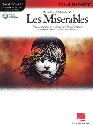 Les Miserables Play-Along Pack for Clarinet (Book with Audio online)