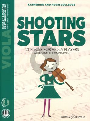 Colledge Shooting Stars Viola and Piano (Book with Audio online) (21 pieces for viola players with piano accompaniment)