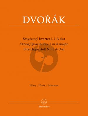 Dvorak Quartet No.1 Op.2 A-major String Quartet (Parts) (Jarmil Burghauser / Antonín Cubr)