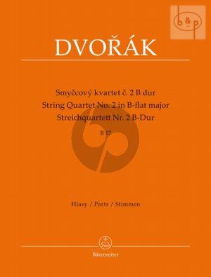 Quartet No.2 B-flat major B.17 (2 Vi.-Va.-Vc.) (Parts)