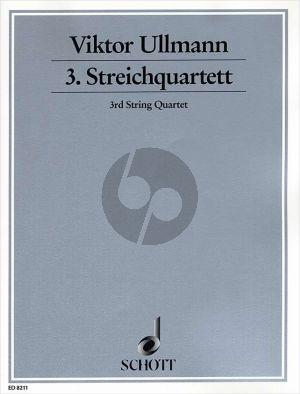 Ullmann Quartet No.3 Op.46 ( 1943 ) 2 Violins-Viola-Violoncello (Score/Parts)