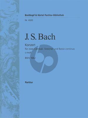 Bach Konzert c-moll BWV 1062 2 Cembali-Streicher Partititur
