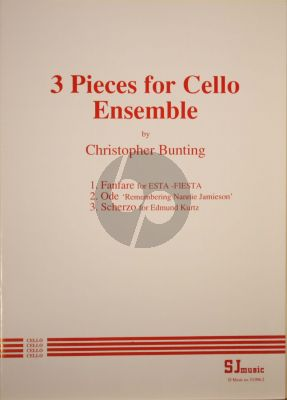 Bunting 3 Pieces for 4 Violoncellos (Score/Parts)
