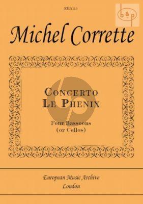 """Corrette Concerto """"Le Phenix"""" 4 Bassoons[Vc.] (Score/Parts) (Block)"""