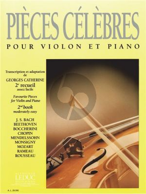 Pieces Celebres Vol. 2 Violon et Piano (Georges Catherine)