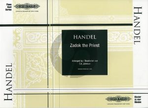 Handel Zadok the Priest Piano 4 hds (arr. T.A. Johnson)