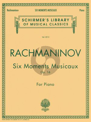 Rachmaninoff 6 Moments Musicaux Op.16 Piano solo