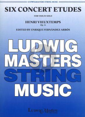 Vieuxtemps 6 Concert Etudes Op.16 Violin (Enrique Arbos)