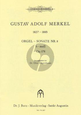 Merkel Sonate No. 8 h-moll Op. 178 Orgel (Otto Depenheuer)