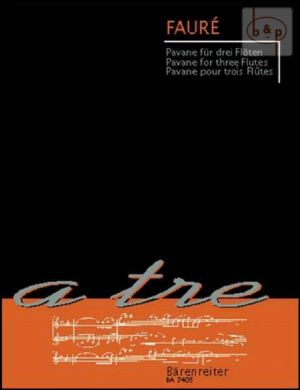 Faure Pavane Op.50 3 Flutes (Playing Score) (Woodfull-Harris)