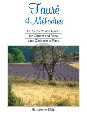 4 Melodies Clarinet[Bb]-Piano