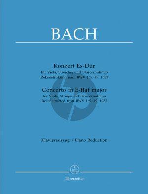 Bach Konzert Es-dur (Viola-Str.-Bc) (rekontr.nach BWV 169 - 49 - 1053 durch W.Fischer) (KA)