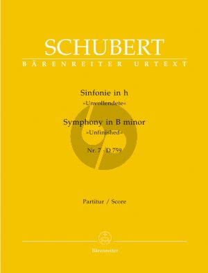 Schubert Symphony No.7 B-minor D.759 (Unfinished) Full Score