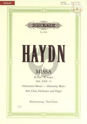 Harmonie-Messe Hob.XXII:14 (Missa B-Dur) (Soli-Chor-Orchester-Orgel)