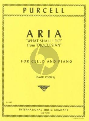"Purcell Aria ""What shall I Do"" (from Dioclesian) Cello-Piano (transcr. David Popper)"