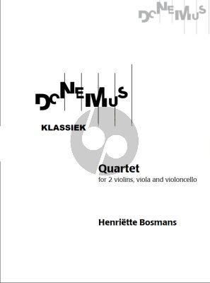 Bosmans String Quarttet (1927) 2 Violins Viola and Violoncello (Score and Parts)