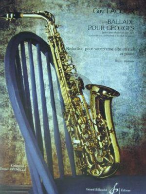 Ballade pour Georges Alto Sax.-String Orch.