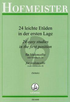24 Leichte Etuden 1.Lage Violoncello (Schulz) (Romberg-Dotzauer-Lee-Kummer-Davidoff)