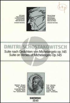 Suite Gedichten von Michelangelo Buonarroti op.145