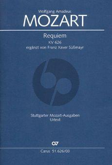 Mozart Requiem KV 626 Soli-Choir-Orch. Vocal Score (Süssmayr)