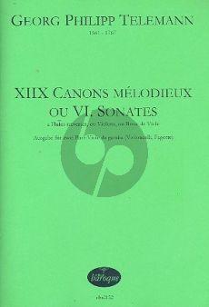 Telemann 18 Canons Mélodieux ou 6 Sonates TWV40:118-123 2 Violas da Gamba (2 Vc./2 Fag.)