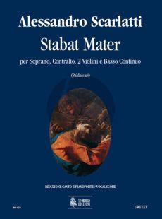 Scarlatti Stabat Mater Soprano.-Contralto-2 Vi.-Bc Vocal Score