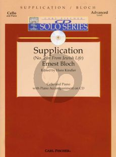 Bloch Supplication (Jewish Life No.2) Violonc.-Piano (Book with Play-Along CD) (advanced level)