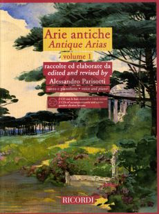 Album Arie Antiche Vol.1 for Voice-Piano (Bk- 2 CD's with accomp. and native speaker diction lessons) (edited by Alessandro Parisotti)