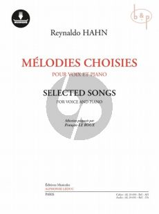 Melodies Choisies (Selected Songs) (Voice-Piano)