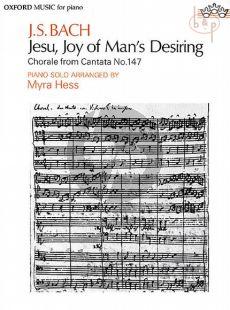 Jesu Joy of Man's Desiring (Chorale from Cantata No.147) Piano Solo