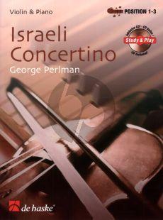 Perlman Israeli Concertino Violin and Piano (Position 1 - 3) (Bk-Cd)