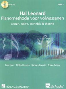 Piano Methode voor Volwassenen Vol.2 Lessen-Solo's-Techniek & Theorie (Bk- 2 CD's) (Fred Kern- Phillip Keveren-Barbara Kreader-Mona Rejino)