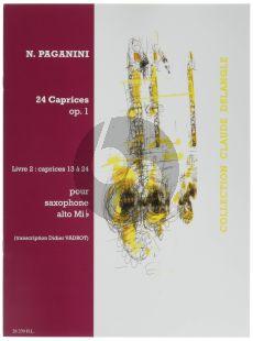 Paganini 24 Caprices Op.1 Vol.2 Alto Saxophone (No.13 - 24) (transcr. Vadrot)