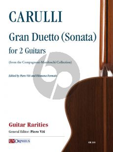 Carulli Gran Duetto (Sonata) (from the Compagnoni-Marefoschi Collection) for 2 Guitars