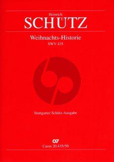 Schütz Weihnachts-Historie SWV 435 Partitur (Günter Graulich)