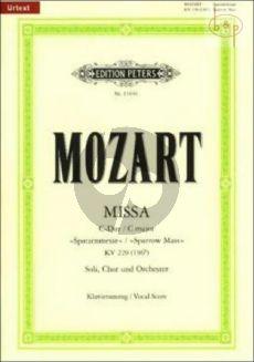 Mozart Missa Brevis C-dur KV 220 (196b) (Spatzenmesse) Soli-Chor-Orchester Klavierauszug (Klaus Burmeister)