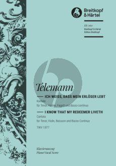 Telemann Kantate BWV 160 - Ich weiss, dass mein Erloser lebt (fruher J.S. Bach zugeschrieben) (KA) (dt./engl.)