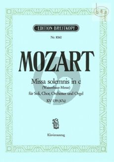 Missa Solemnis c-minor KV 139[47A] (Waisenhaus-Messe) (Soli-Choir-Orch.)