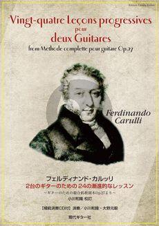 Carulli 24 Lecons progressives pour deux Guitares (From Methode complette pour guitare Op. 27) (Bk-Cd)