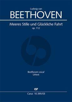 Beethoven Meeres Stille und Glückliche Fahrt Opus 112 (Chor-Orchester Klavierauszug) (Sven Hiemke)
