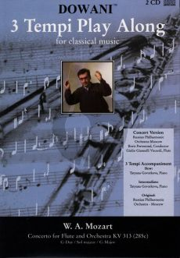 Mozart Concerto G-major KV 313 Flute (Solo Part-CD) (Dowani)