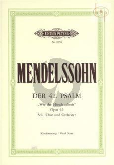 """Psalm 42 Op.42 """"Wie der Hirsch schreit nach frischem Wasser"""""""