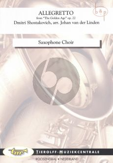 Allegretto (from the Golden Age Op.22) (Sax.Choir)