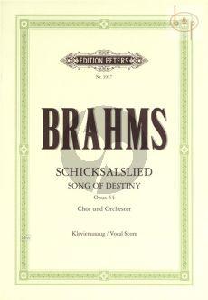 Schicksalslied Op.54 (Klavierauszug)